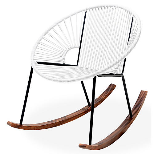 Ixtapa Rocking Chair, White