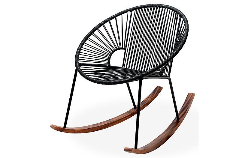 Ixtapa Rocking Chair, Black