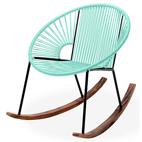 Ixtapa Rocking Chair, Mint