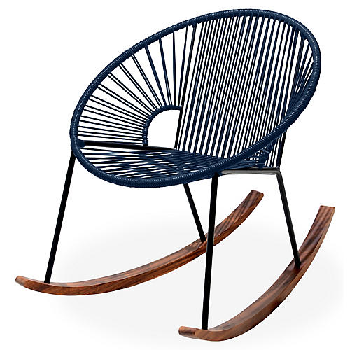 Ixtapa Rocking Chair, Navy