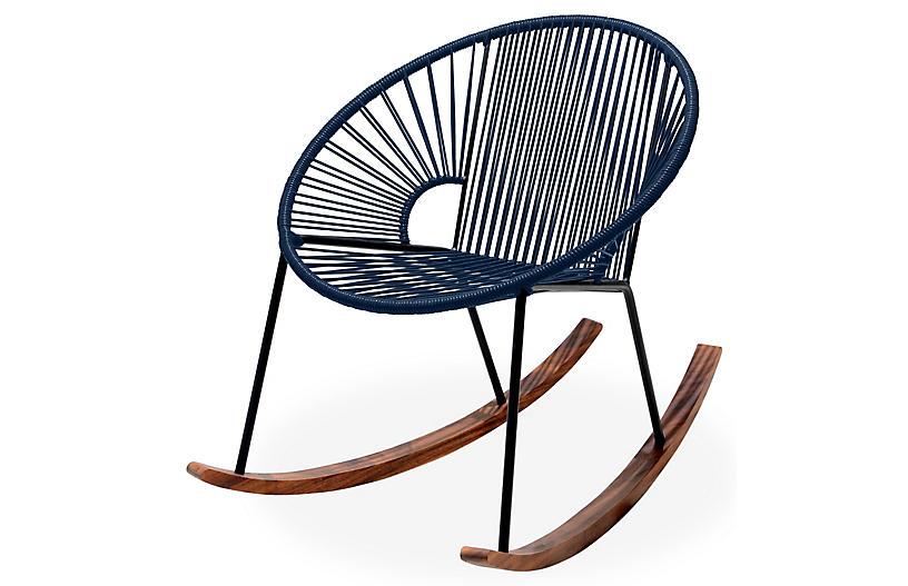 Ixtapa Rocking Chair, Navy