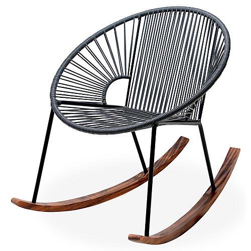 Ixtapa Rocking Chair, Stone Gray
