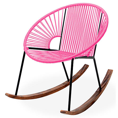 Ixtapa Rocking Chair, Magenta