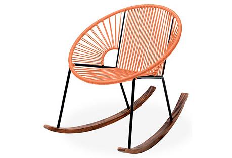 Ixtapa Rocking Chair, Tangerine
