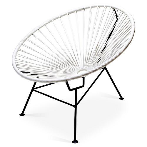 Sayulita Lounge Chair, White