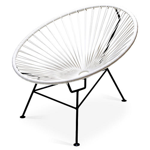 Sayulita Lounge Chair, White