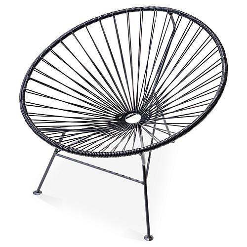 Sayulita Lounge Chair, Black