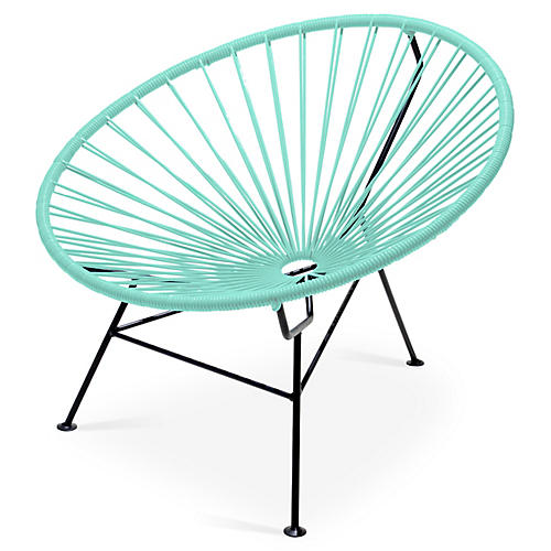 Sayulita Lounge Chair, Mint
