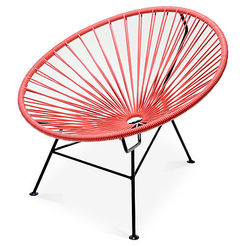 Sayulita Lounge Chair, Coral