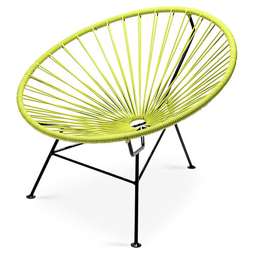 Sayulita Lounge Chair, Apple Green