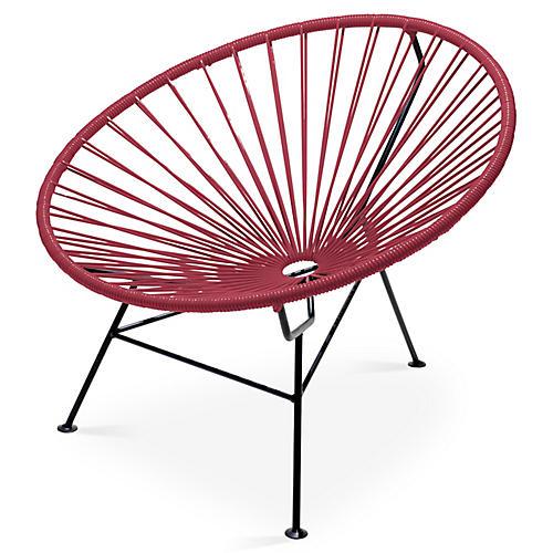 Sayulita Lounge Chair, Burgundy
