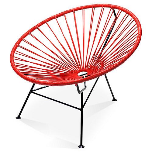 Sayulita Lounge Chair, Red