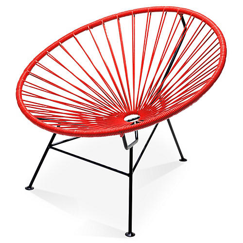 Sayulita Lounge Chair, Red