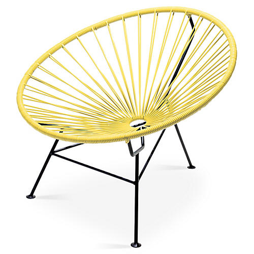 Sayulita Lounge Chair, Yellow