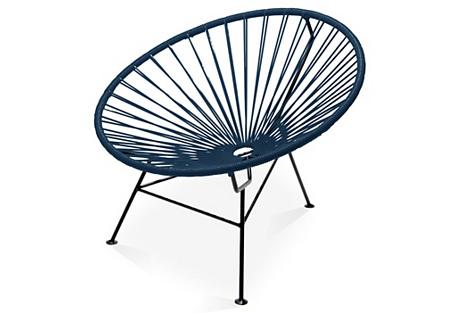 Sayulita Lounge Chair, Navy