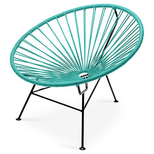 Sayulita Lounge Chair, Turquoise