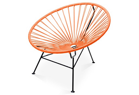 Sayulita Lounge Chair, Tangerine
