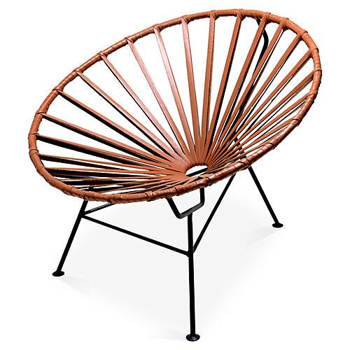 Sayulita Lounge Chair, Camel Leather