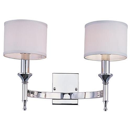 Fairmont 2-Light Sconce, Nickel