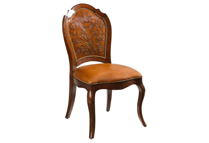 DNU,DiscToreador Side Chair, Leather