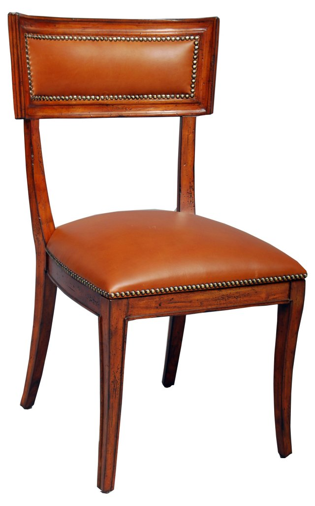 Apertif Leather Side Chair, Brown