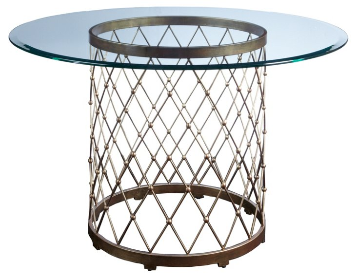 """Royere 48"""" Round Dining Table, Iron"""