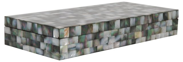 Black Mother of Pearl Box, Large
