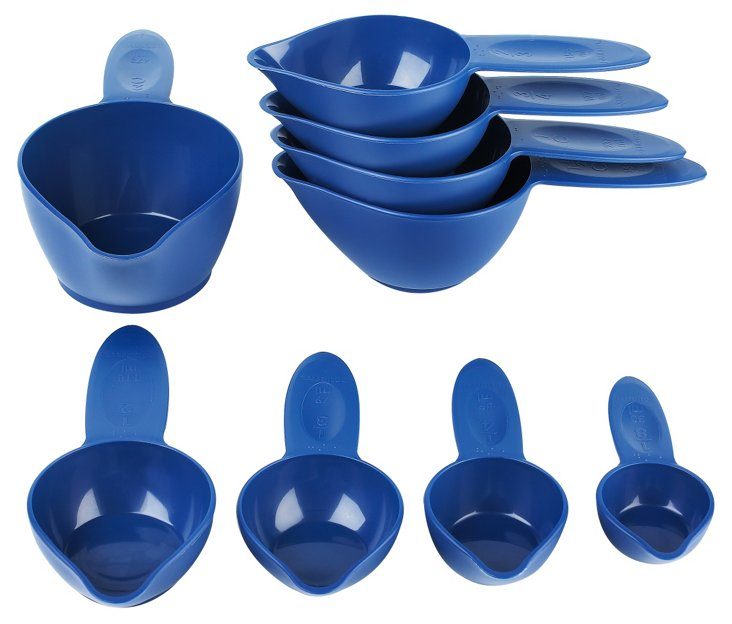 S/9 Measuring Cups, Blue Willow