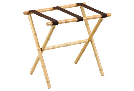 Cait Bamboo Luggage Rack, Natural/Brown