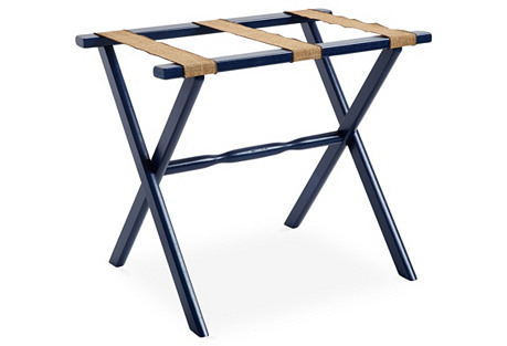 Billy Luggage Rack, Navy/Natural