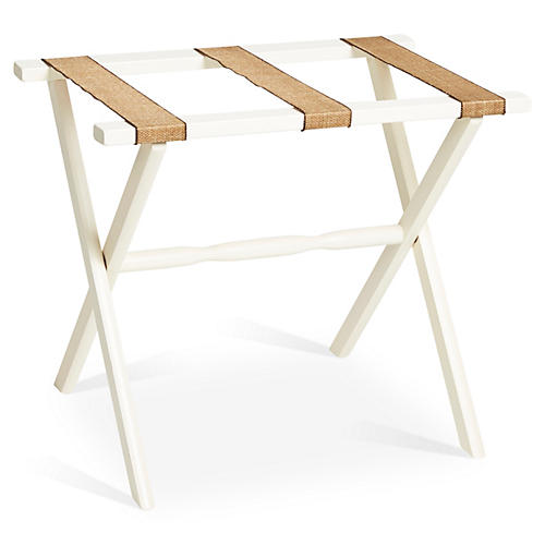 Billy Luggage Rack, Ivory/Natural