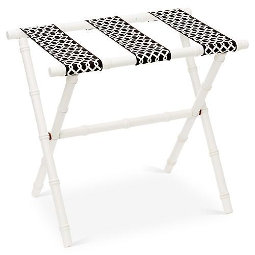 Eloise Bamboo Luggage Rack, White