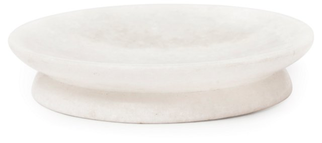 Marble Soap Dish, White