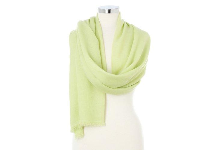 Cashmere Wrap, Shadow Lime