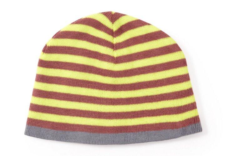 Men's Striped Hat, Slate/Yellow
