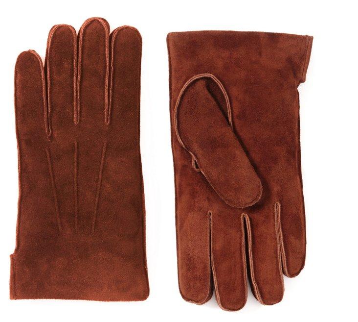 Men's Bark Suede Glove w/ 3 Cords