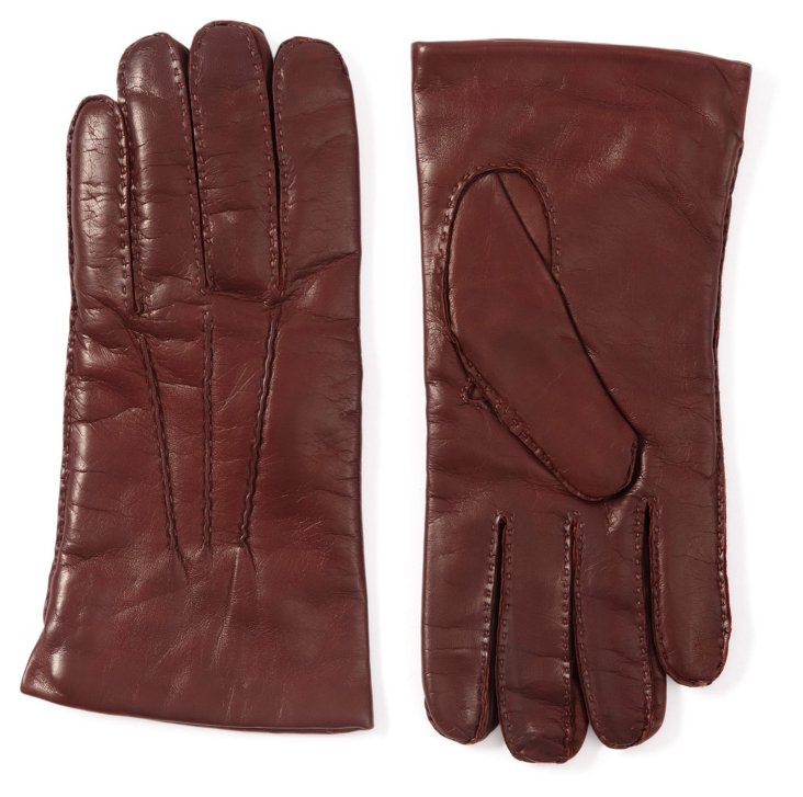 Nappa Glove, Brown