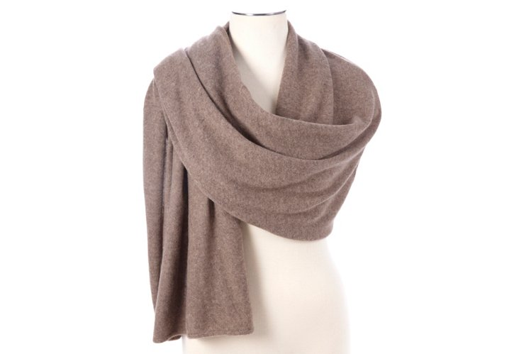 Cashmere Tube Piping Wrap, Nile Brown