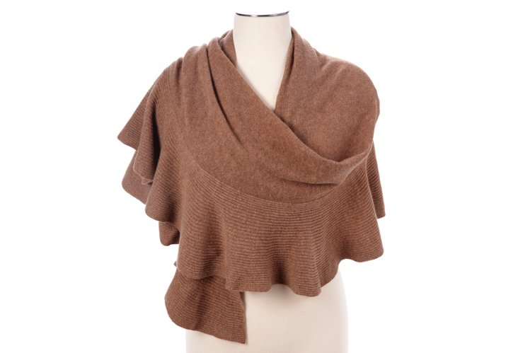 Cashmere Ruffled Wrap, Copper