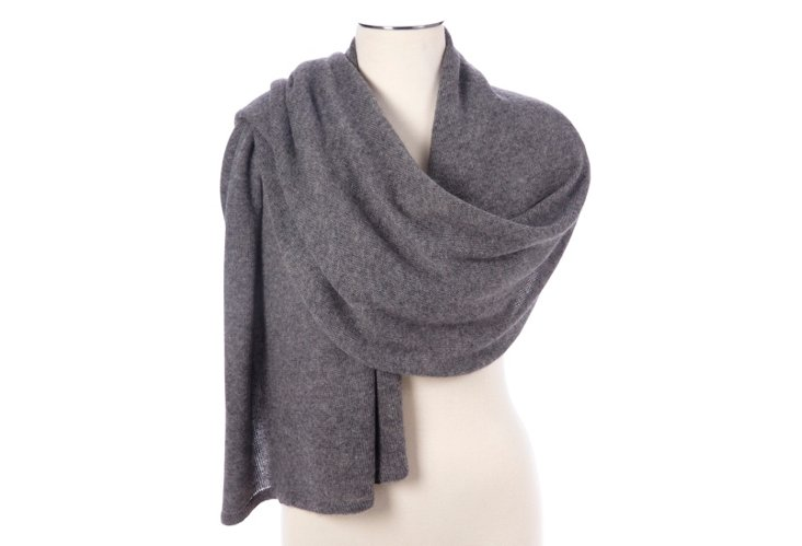Cashmere Tube Piping Wrap, Gray