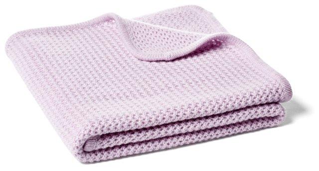 Minerva Fishnet Baby Blanket, Wisteria