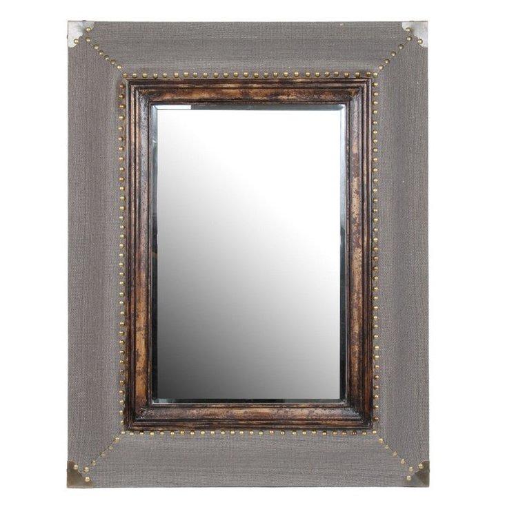 Rectangular Wood Conductor Mirror