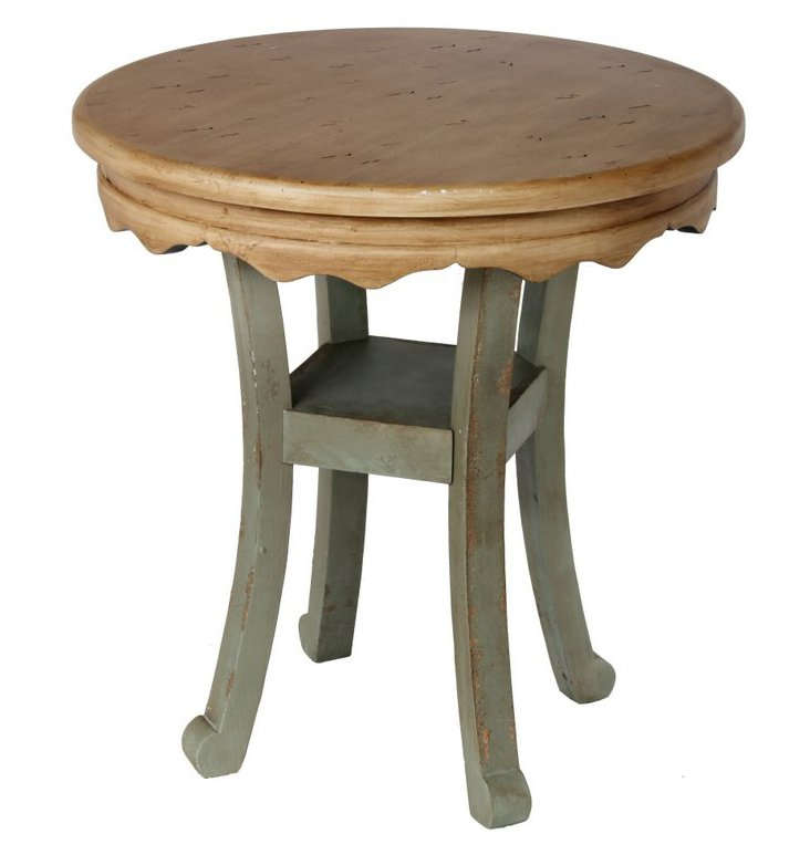 Amias Accent Table, Green/Natural