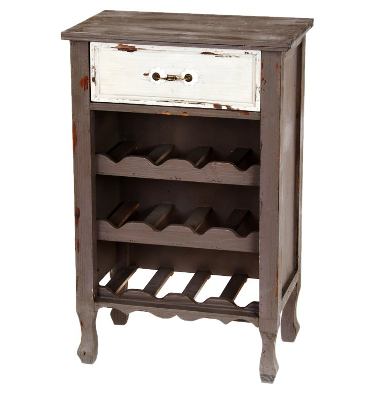 Hope Wine Stand, Distressed Pewter