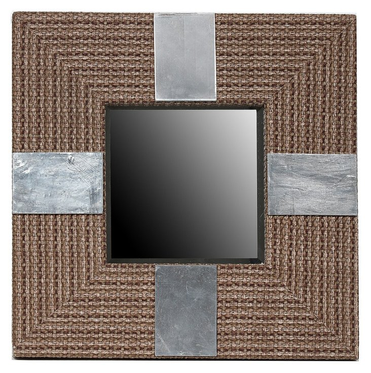 Jude Accent Mirror, Natural/Silver