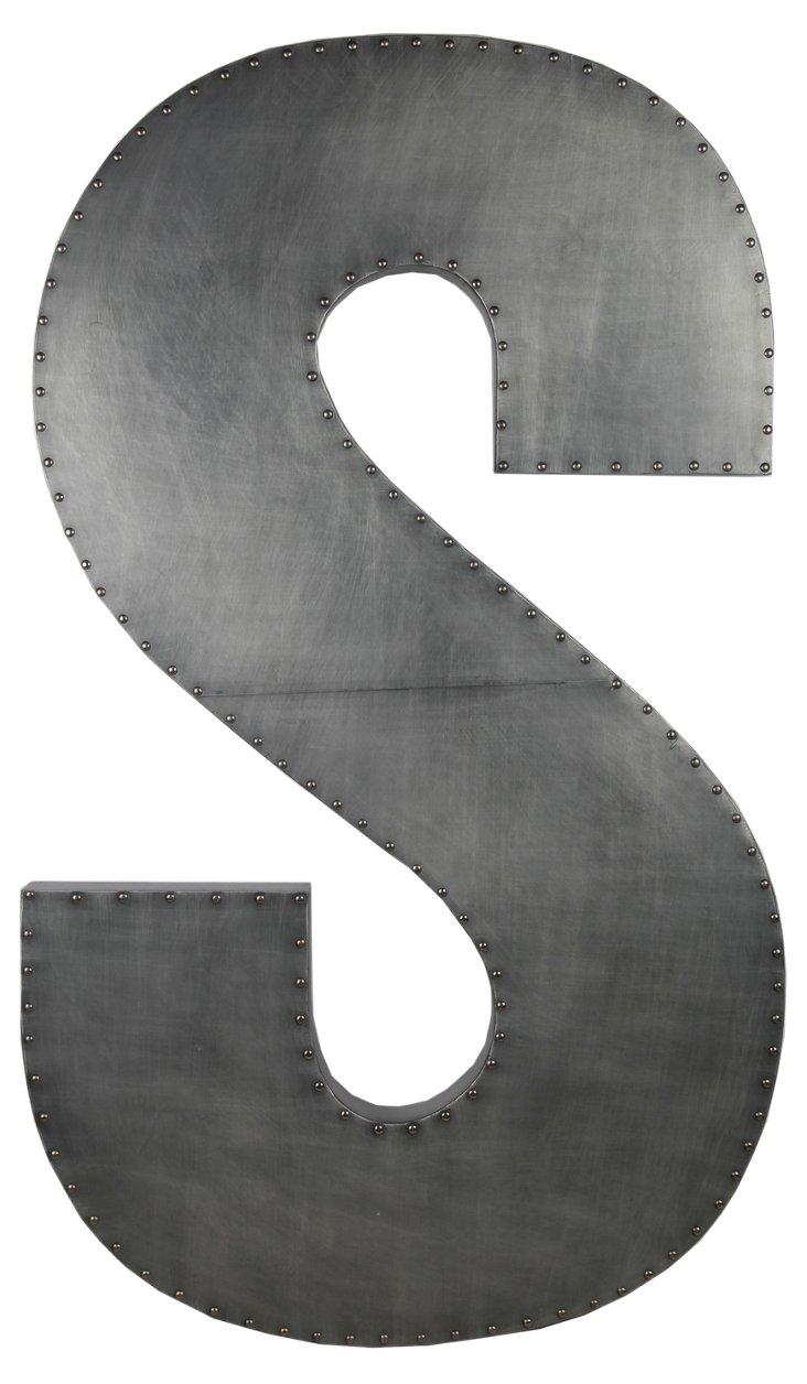 Large Aluminum Letter, S Design