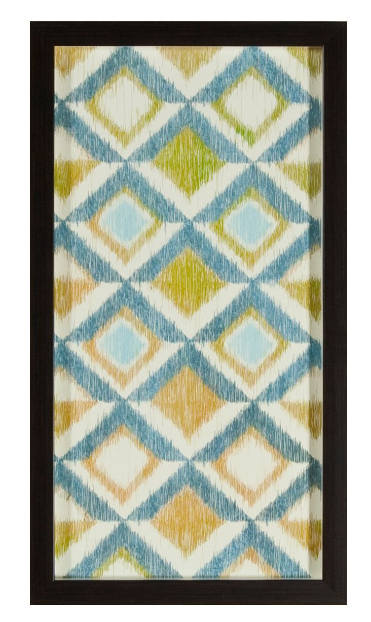 Blue & Green Ikat Print III