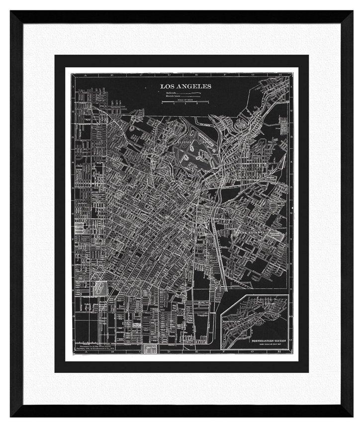 Map of Los Angeles Print I