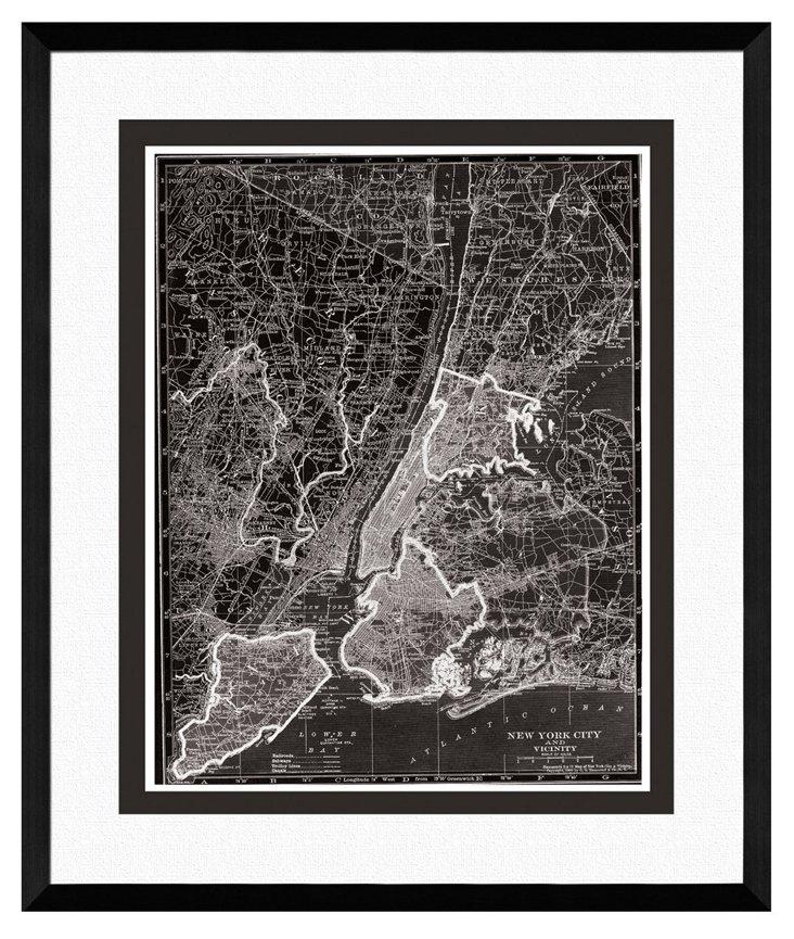 Map of New York City Print I