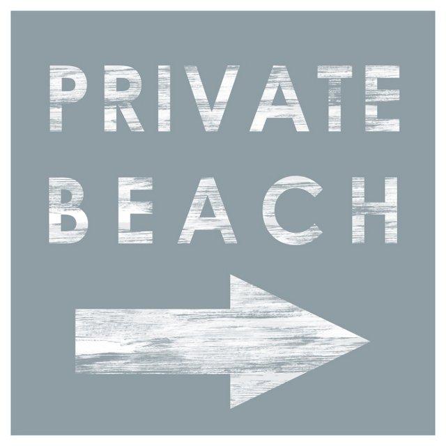 Private Beach Wall Art